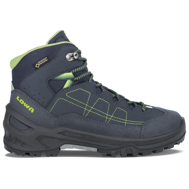 Details für feinste Stoffe Veröffentlichungsdatum: Lowa - Approach GTX Mid Junior - Walking boots - Navy / Lime | 25 (EU)