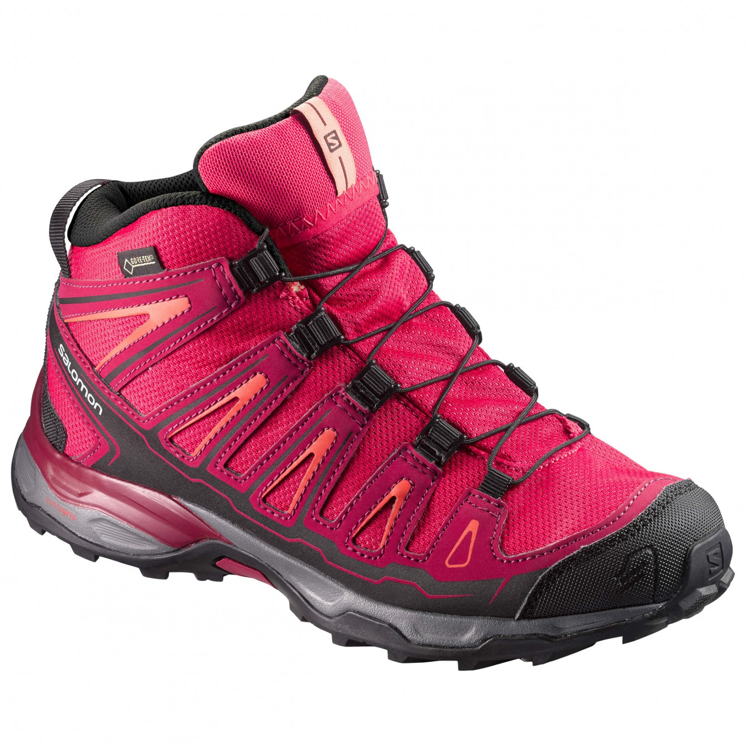 best service 3be7e 1dcc7 Salomon - Kid's X-Ultra Mid GTX J - Walking boots - Virtual Pink / Beet Red  / Living Coral | 35 (EU)