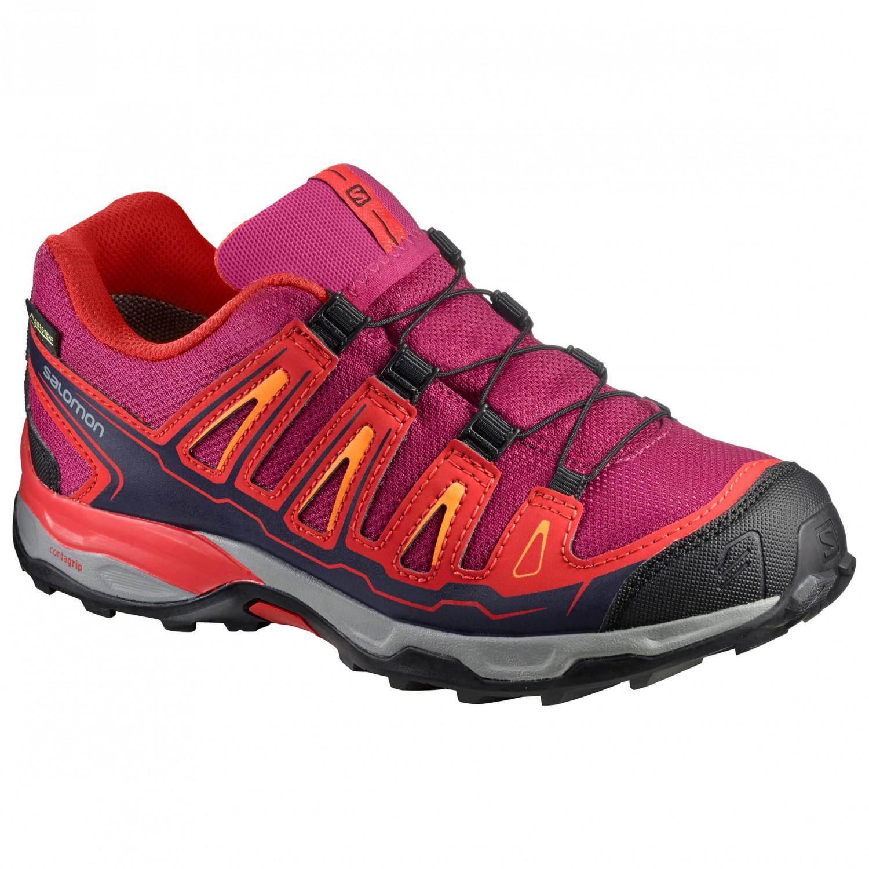 meet 15f22 4ce19 Salomon - Kid's X-Ultra GTX - Multisport shoes - Sangria / Poppy Red /  Bright Marigold | 34 (EU)