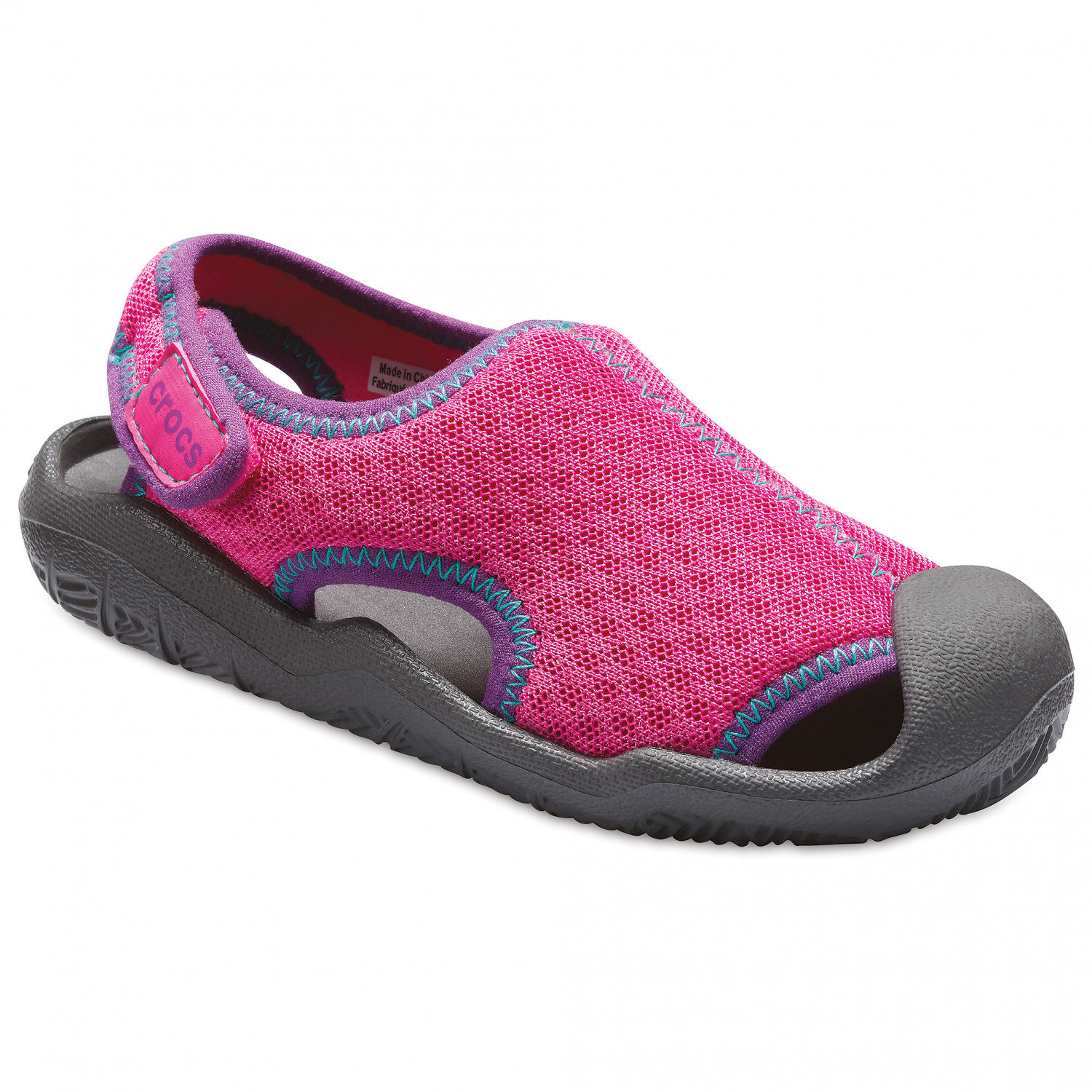 the best attitude a1a22 86191 Crocs - Kid's Swiftwater Sandal - Sandalen - Neon Magenta / Slate Grey |  C11 (US)
