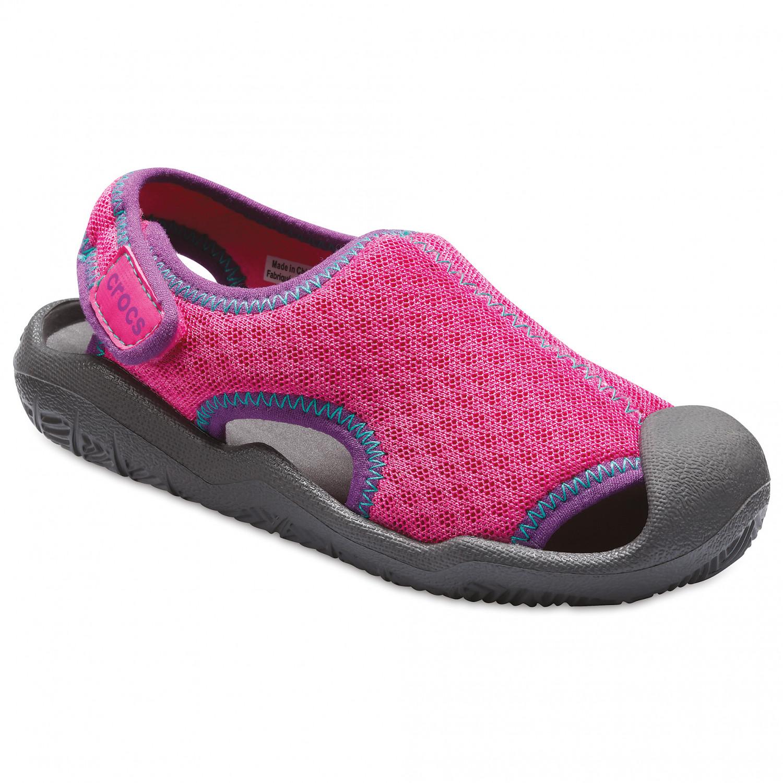 newest a558c 765e7 Crocs - Kid's Swiftwater Sandal - Sandals - Neon Magenta / Slate Grey | C11  (US)