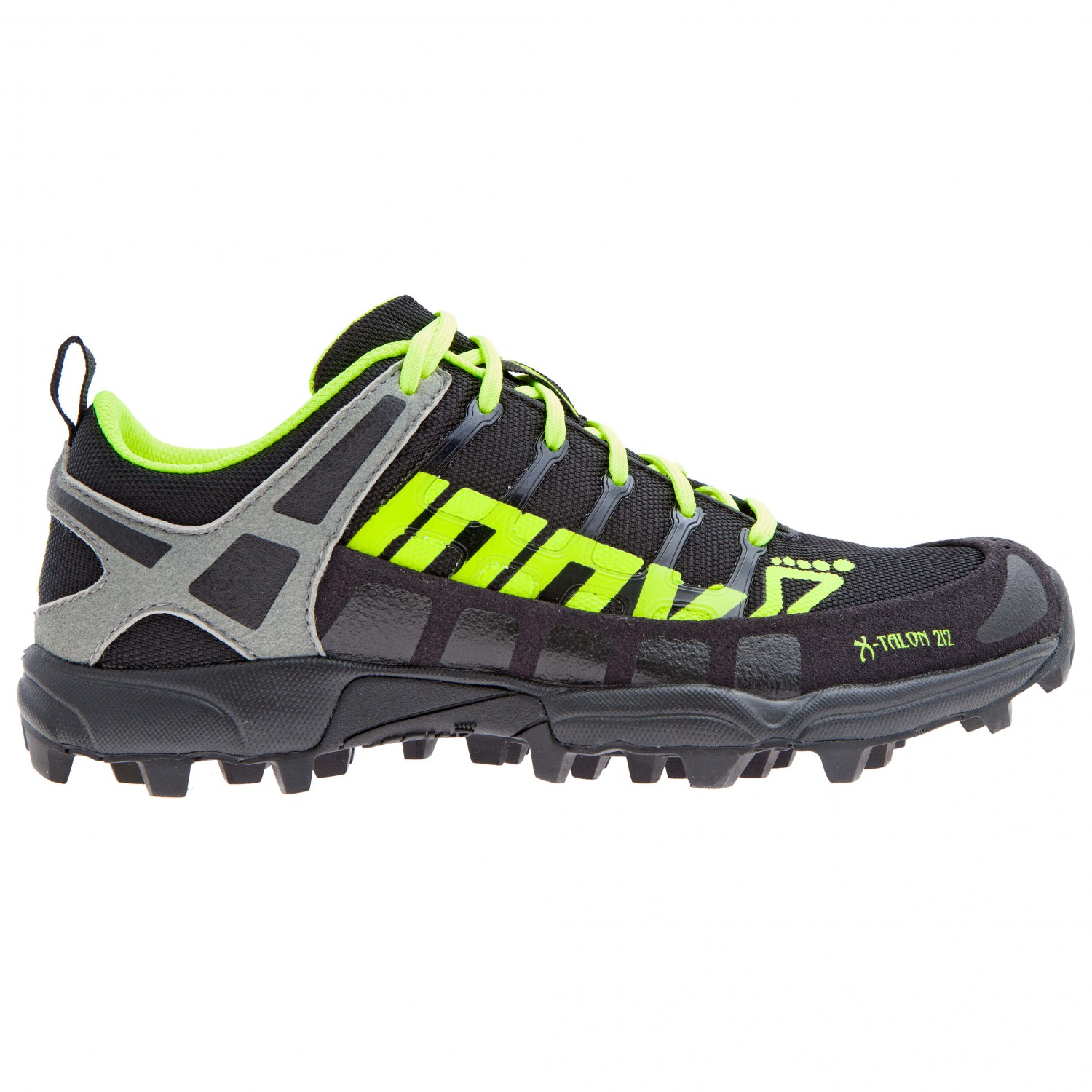 Inov-8 X-TALON 212 - Trail running shoes - black/neon yellow/grey