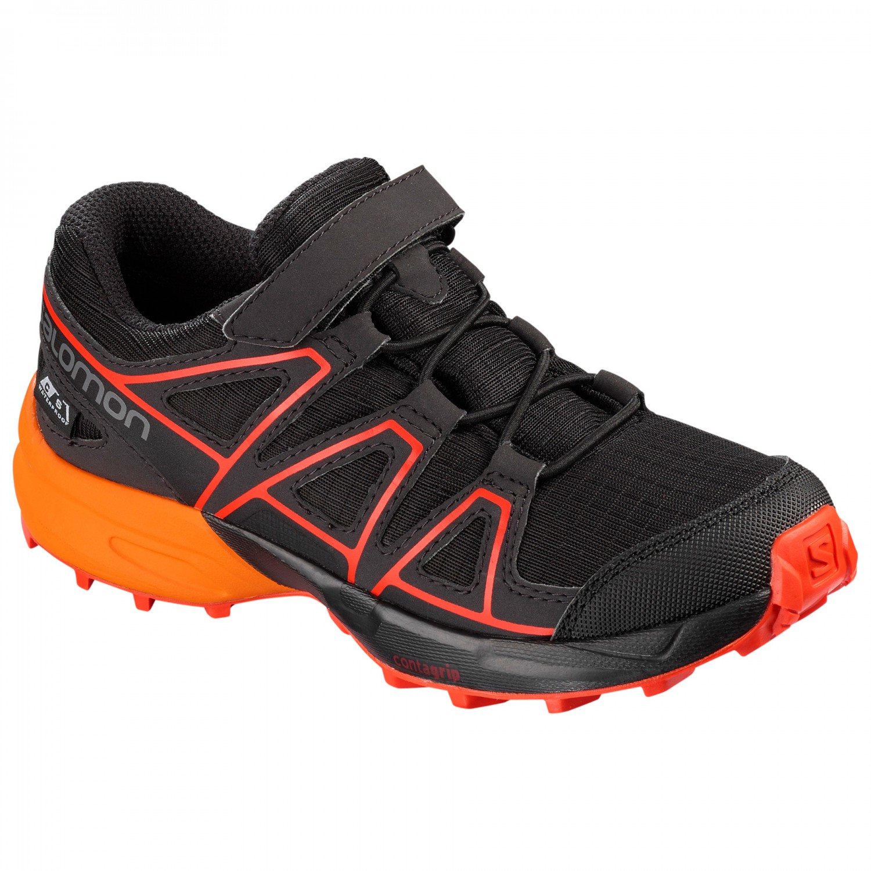 Salomon Kid's Speedcross CSWP Chaussures multisports Black Tangelo Cherry Tomato   26 (EU)