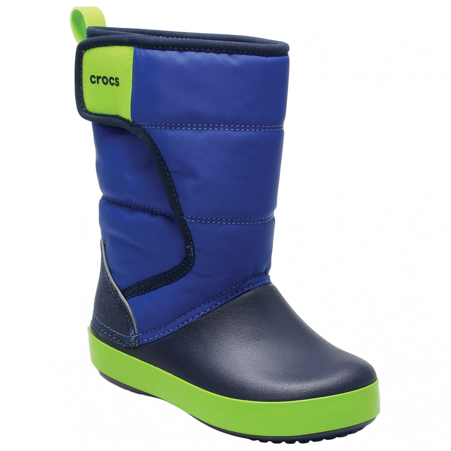 buy popular 1cc3f ee6e3 Crocs - Kid's LodgePoint Snow Boot - Winterschuhe - Blue Jean / Navy | C10  (US)
