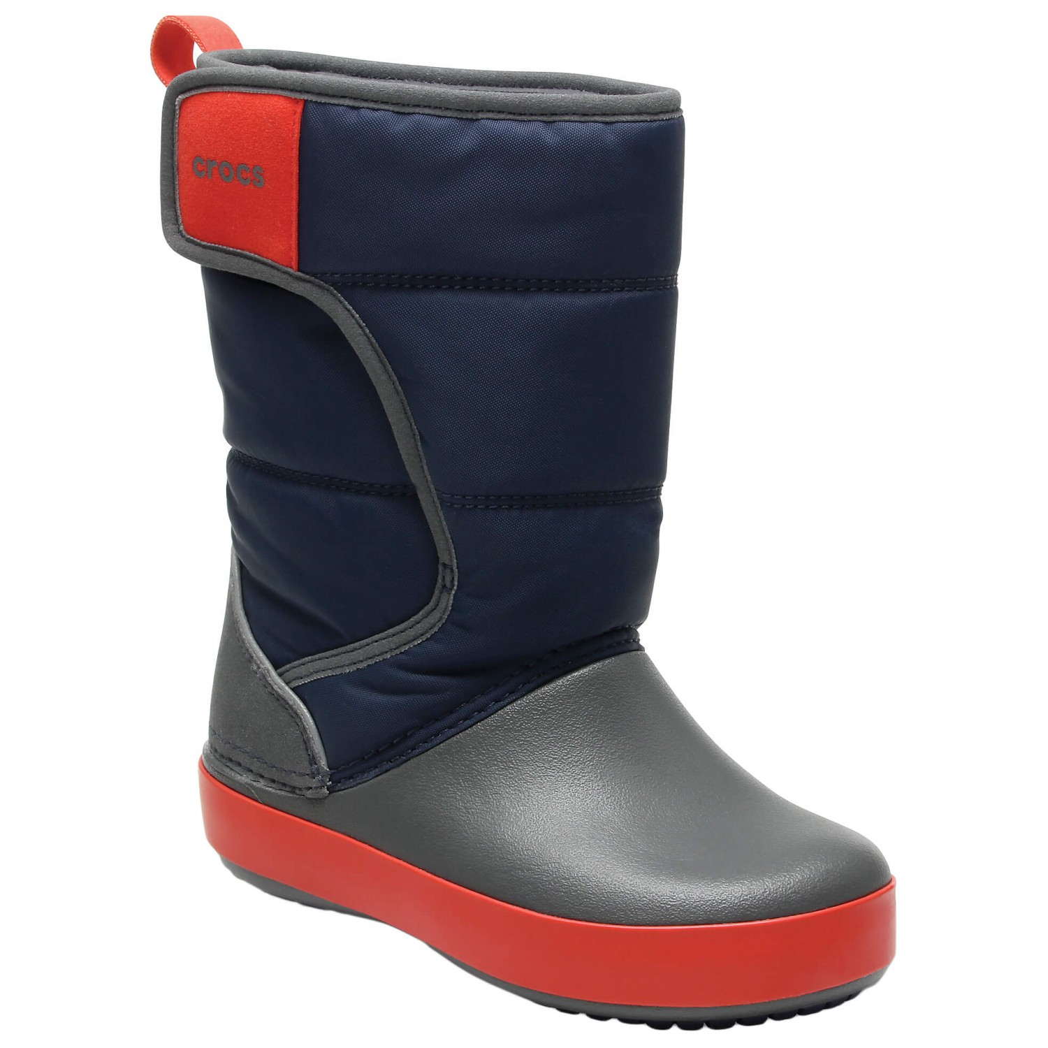 Crocs Kid's LodgePoint Snow Boot Winter boots Navy Slate Grey | C10 (US)