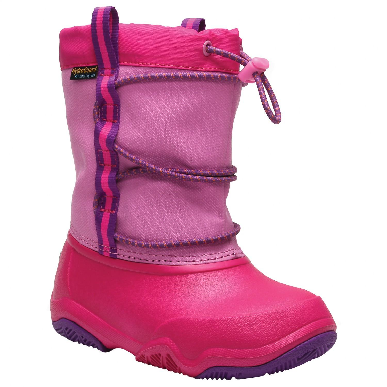 hot sale online 6c6b8 288f4 Crocs - Kid's Swiftwater Waterproof Boot - Winterschuhe - Black / Blue Jean  | C12 (US)