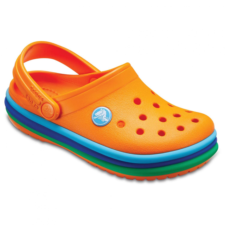 Crocs - Kid's CB Rainbow Band Clog - Sandalen Gr C8 orange XQ63bA