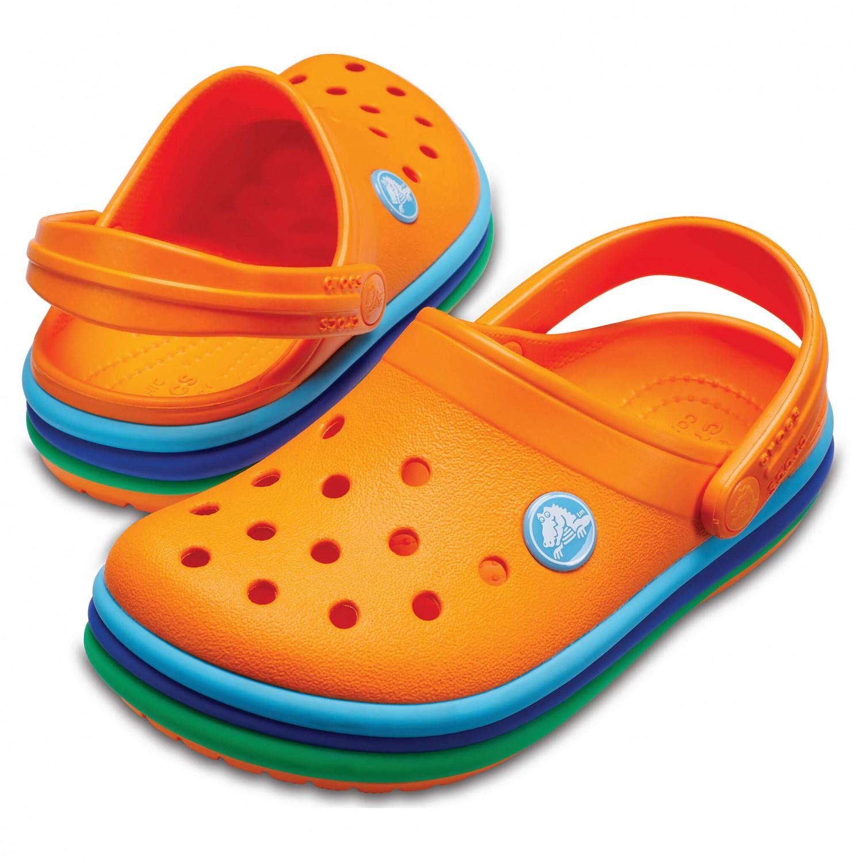 Crocs - Kid's CB Rainbow Band Clog - Sandalen Gr C8 orange iOZu153HKk