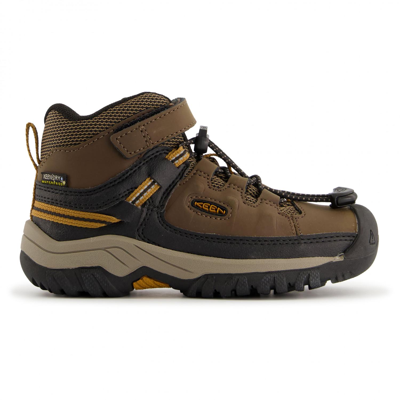 rencontrer 55a66 745e1 Keen - Kid's Targhee Mid WP - Chaussures de randonnée - Dark Earth / Golden  Brown | 1 (US)