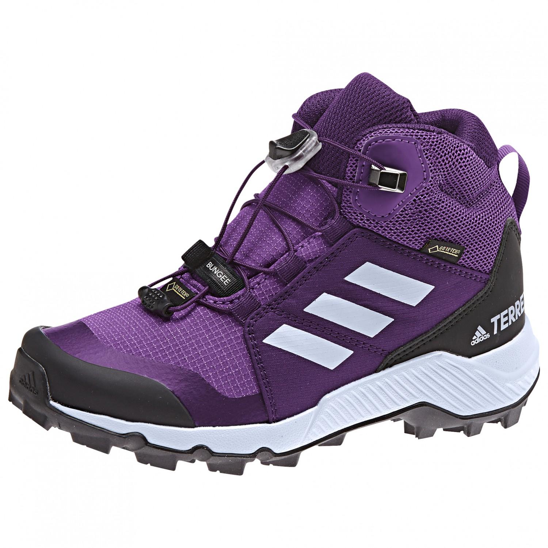 adidas - Kid's Terrex Mid GTX - Walking boots - Active Purple / Aero Blue /  True Pink | 28 (EU)