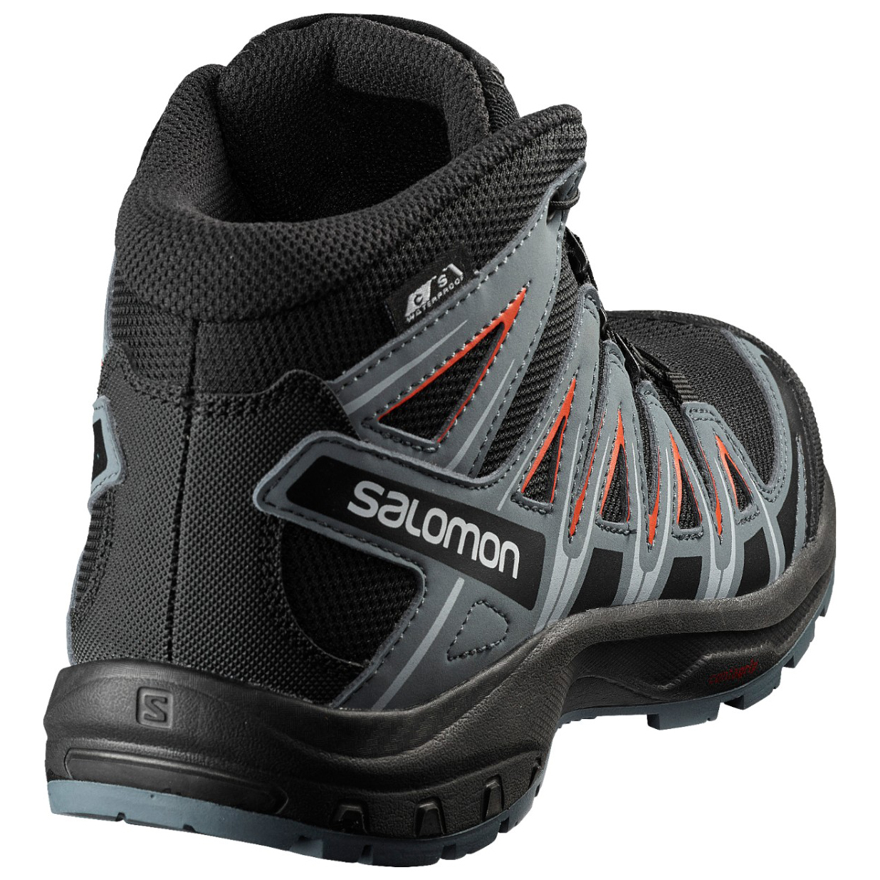 Salomon Kid's Xa Pro 3D Mid CSWP Chaussures de randonnée Black Stormy Weather Cherry Tomato | 31 (EU)