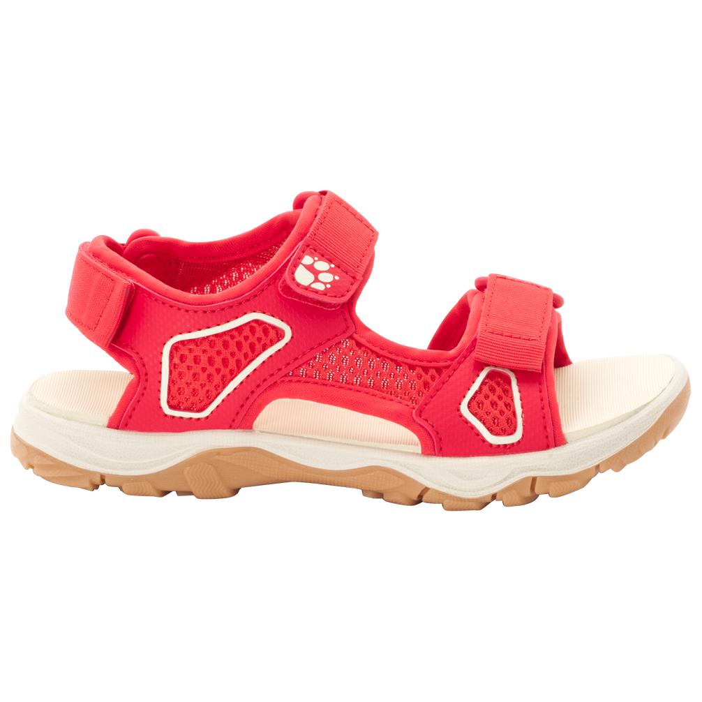 Jack Wolfskin Kid's Taraco Beach Sandal Sandalen Red Champagne | 28 (EU)