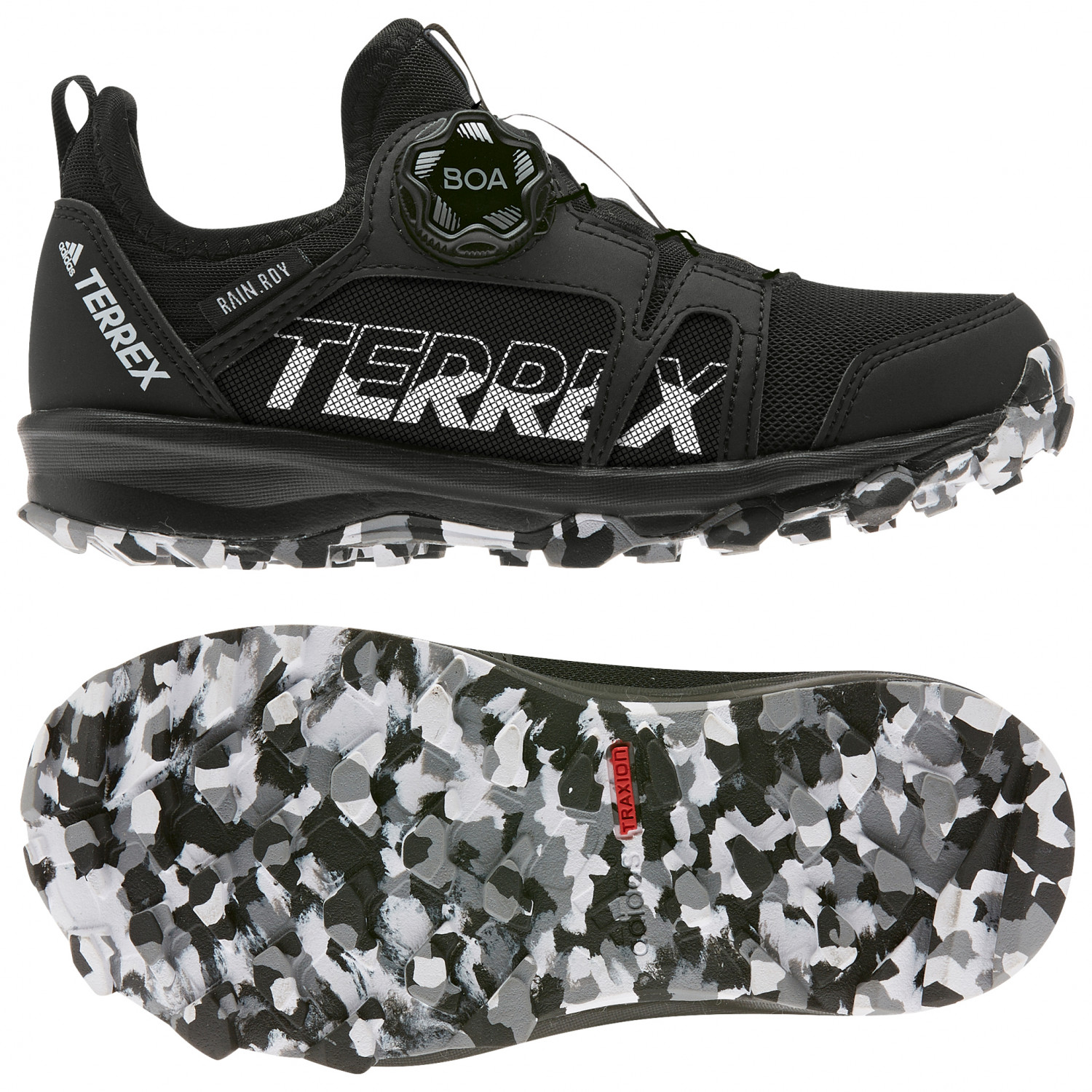 adidas - Kid's Terrex Agravic BOA Rain Ready - Multisportschuhe - Core  Black / Ftwr White / Grey Three F17 | 3 (EU)
