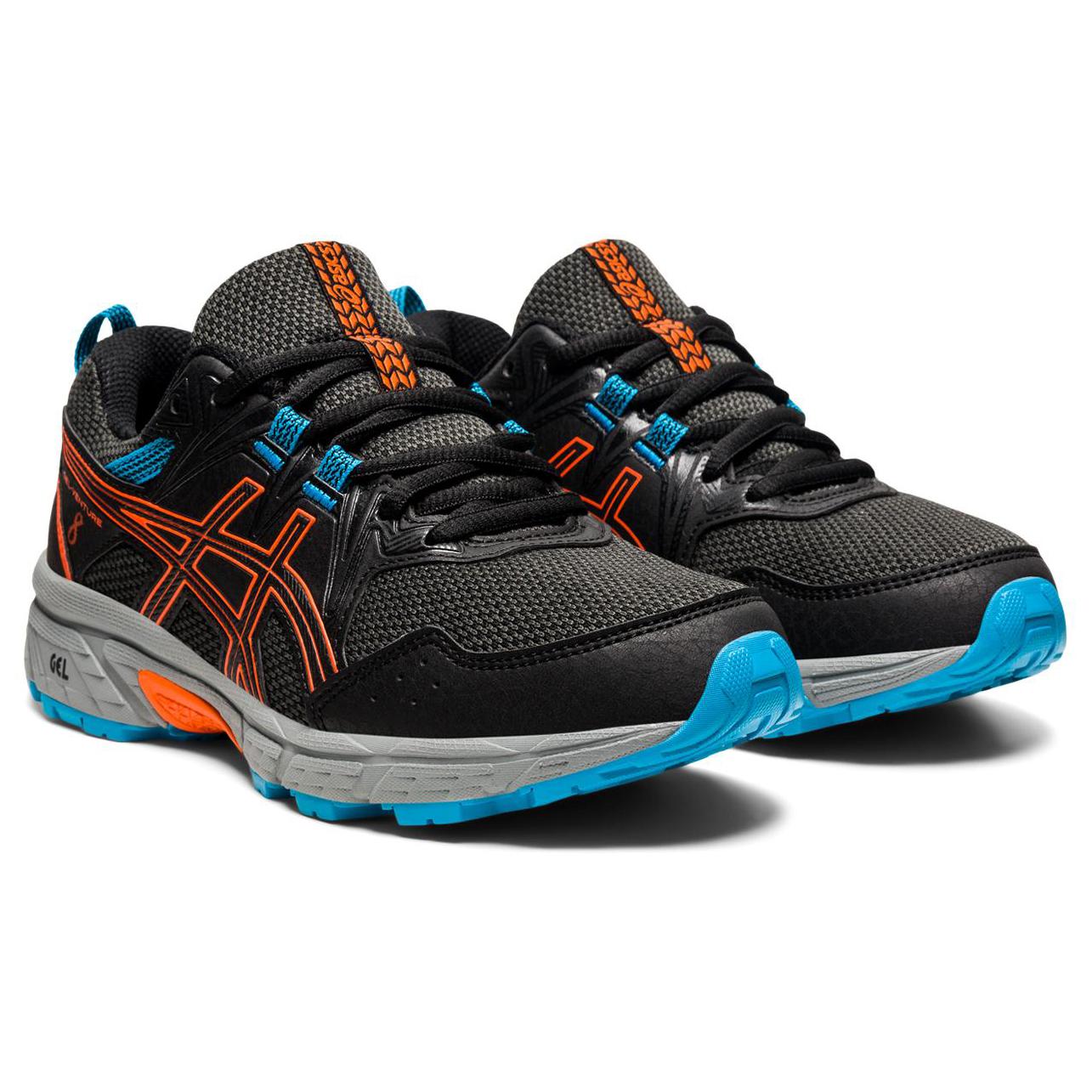 Asics - Kid's Gel-Venture 8 GS - Multisport shoes - Black / Marigold Orange   1,5 (US)