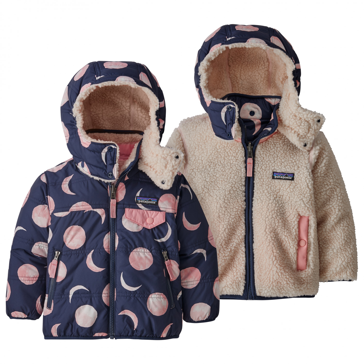 Patagonia Baby Reversible Tribbles Hoody Winter Jacket