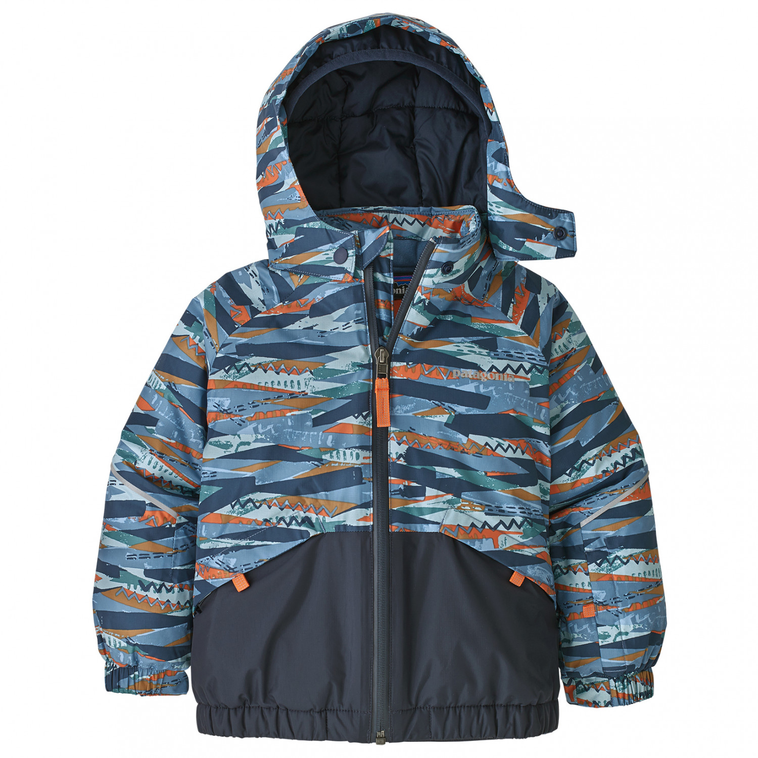check out 5a8a1 4fa8b Patagonia - Baby Snow Pile Jacket - Giacca da sci - Play Stripe / Woolly  Blue | 3T (US)
