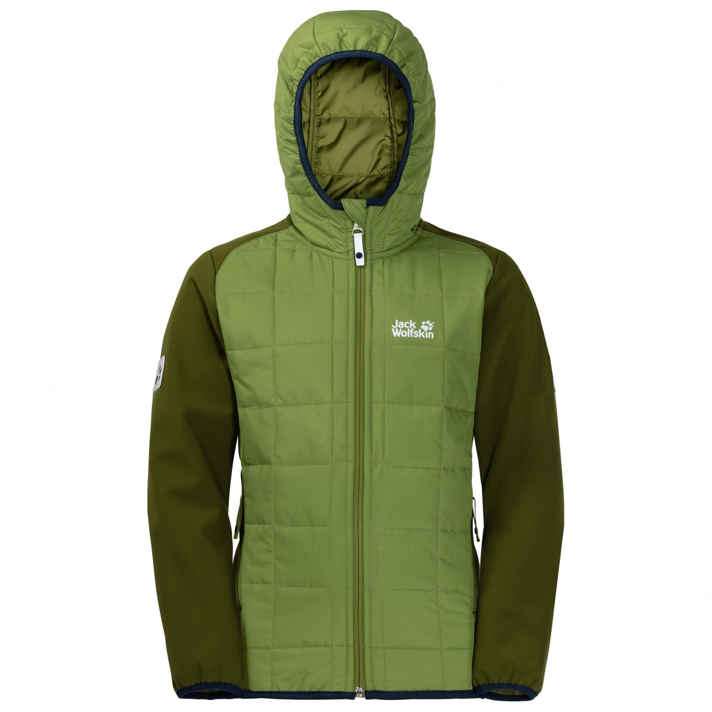 46308d7ca9 ... Jack Wolfskin - Boy's Grassland Hybrid Jacket - Synthetic jacket ...