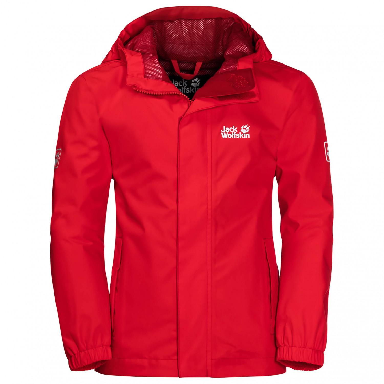 sports shoes cef70 3c87c Jack Wolfskin - Kid's Pine Creek Jacket - Hardshell jacket - Peak Red   116  (EU)