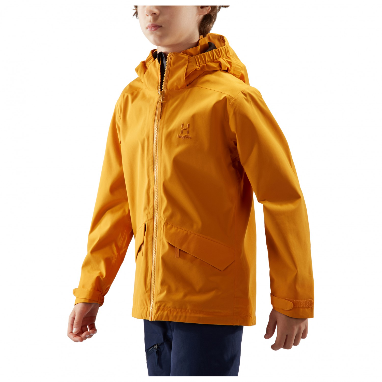 Haglöfs Kid's Mila Jacket Junior Regenjacke Mineral Agave Green   128 (EU)