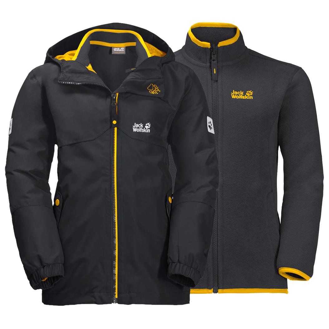 Niño Wolfskin Chaqueta Jack Jacket Dobles Iceland 3in1 OkuPTXZi