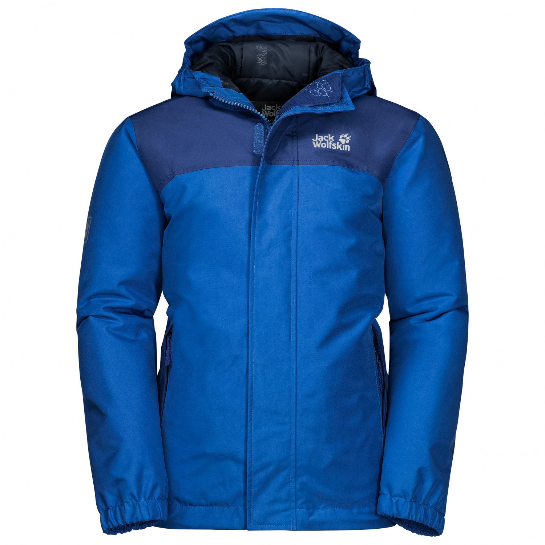 buy online 9399f 8f9e4 Jack Wolfskin - Boy's Kajak Falls Jacket - Winterjacke - Deep Forest | 104  (EU)