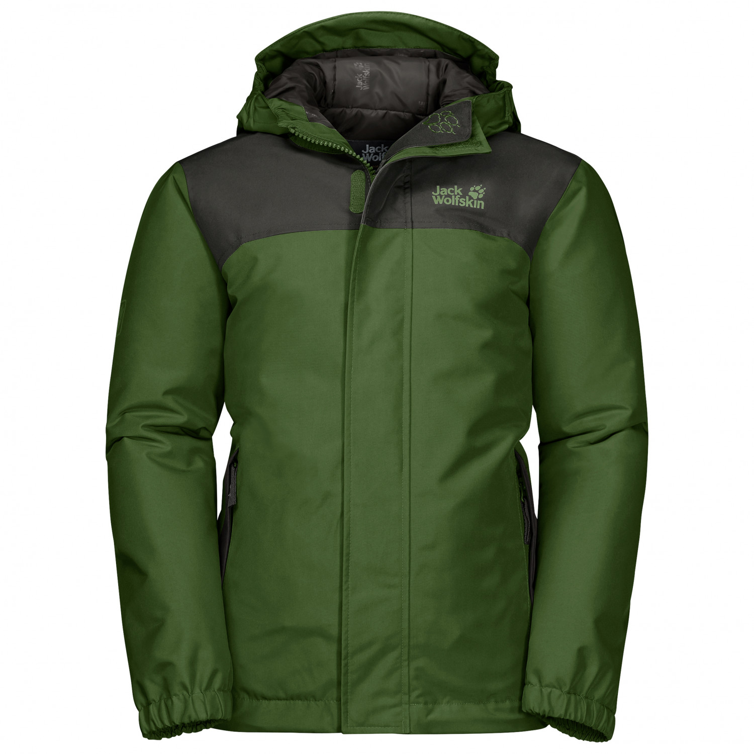 buy popular 3b776 5a801 Jack Wolfskin - Boy's Kajak Falls Jacket - Winter jacket - Deep Forest |  104 (EU)