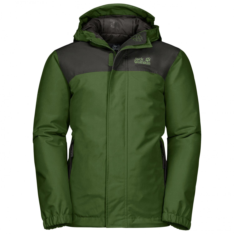 buy online 86016 822ef Jack Wolfskin - Boy's Kajak Falls Jacket - Winterjacke - Deep Forest | 104  (EU)
