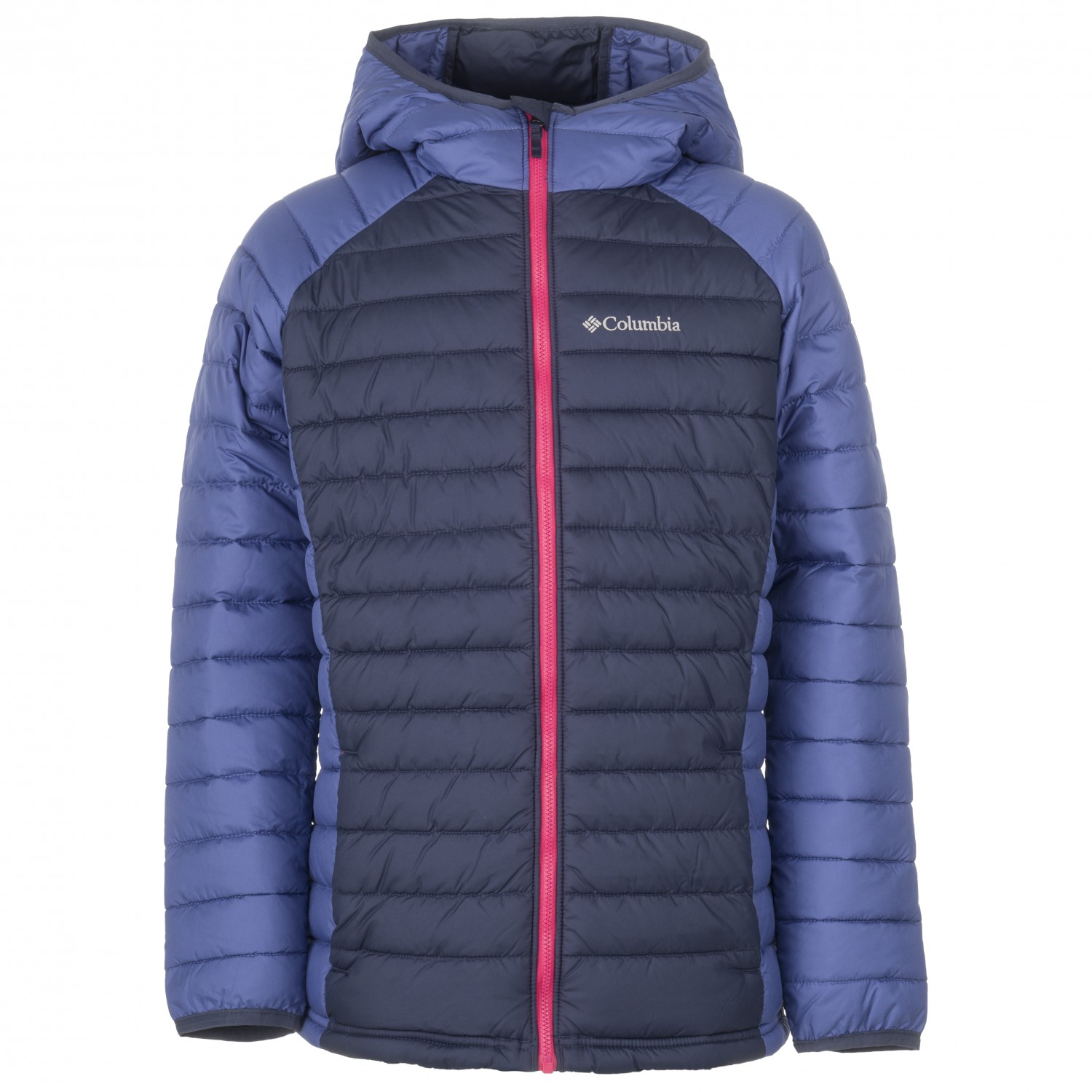 a2a618cd5 Columbia - Girls Powder Lite Hooded Jacket - Synthetic jacket - Nocturnal /  Eve | XXS