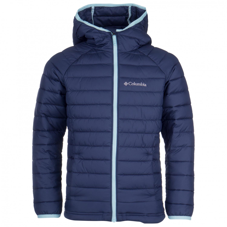 Columbia Girls Powder Lite Hooded Jacket Chaqueta de fibra sintética Nocturnal Spray Pop   XL