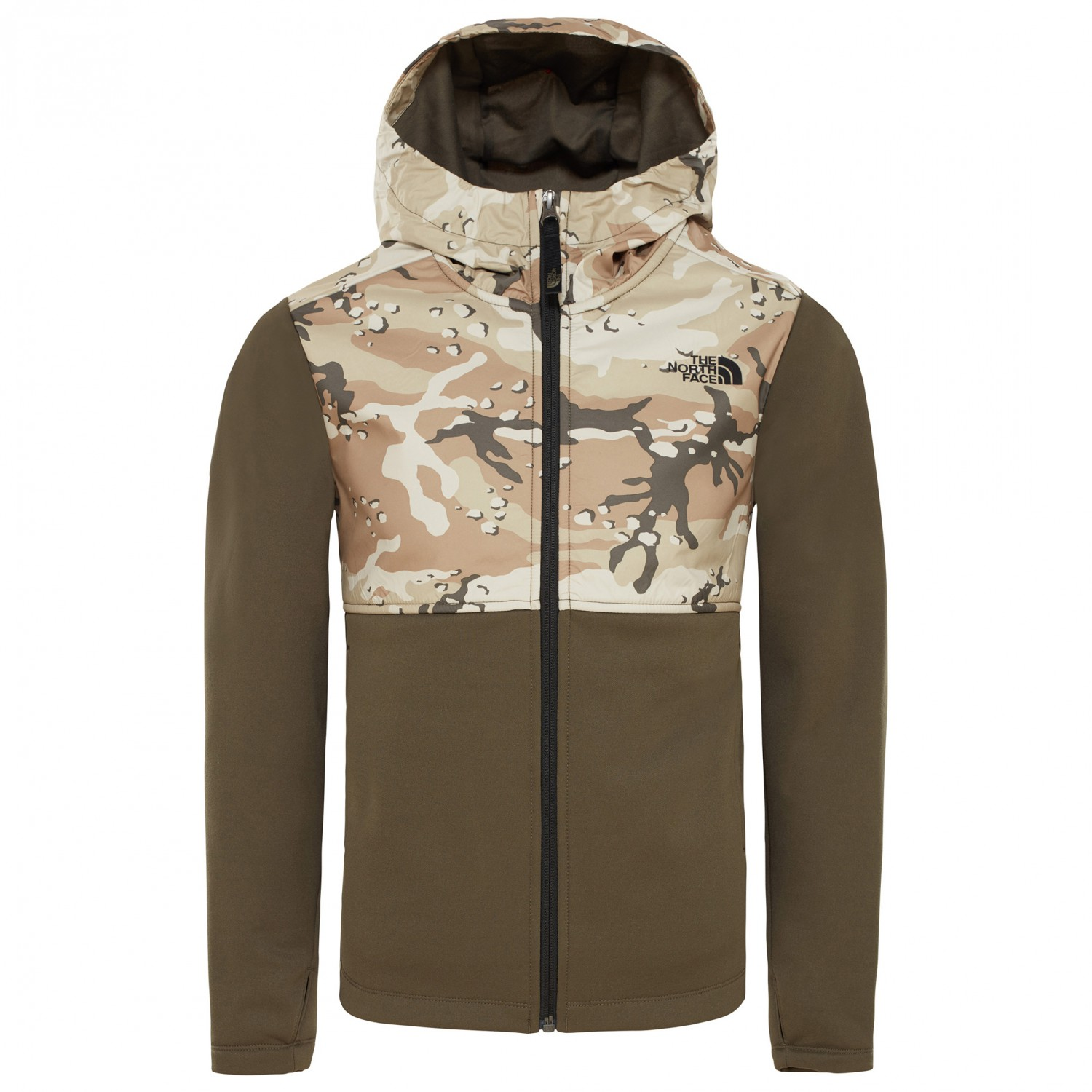 597c7df81 The North Face - Boy's Kickin it Hoodie - Fleece jacket - New Taupe Green |  S