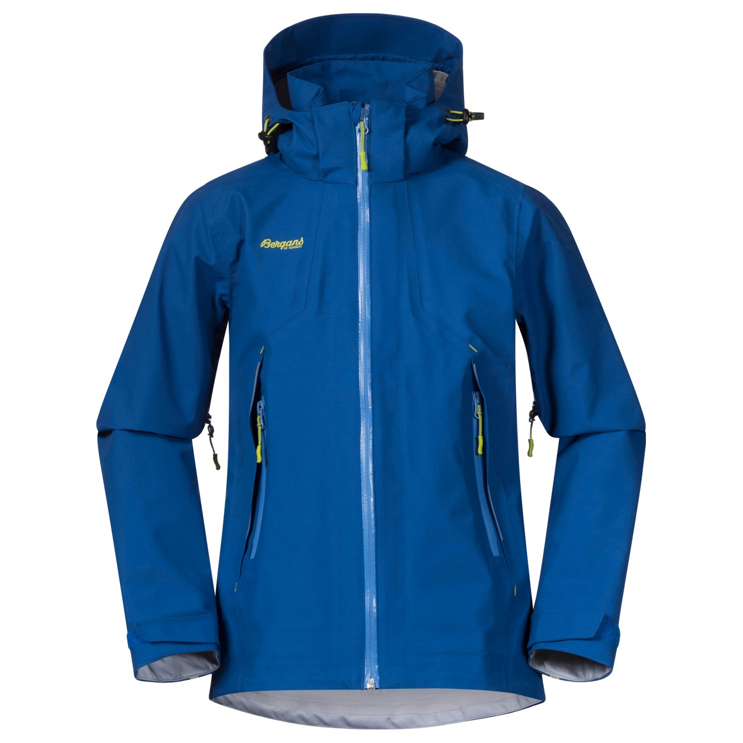 Bergans Kid's Sjoa 3L Jacket Regenjacke Classic Blue Cloud Blue Sprout Green | 140 (EU)