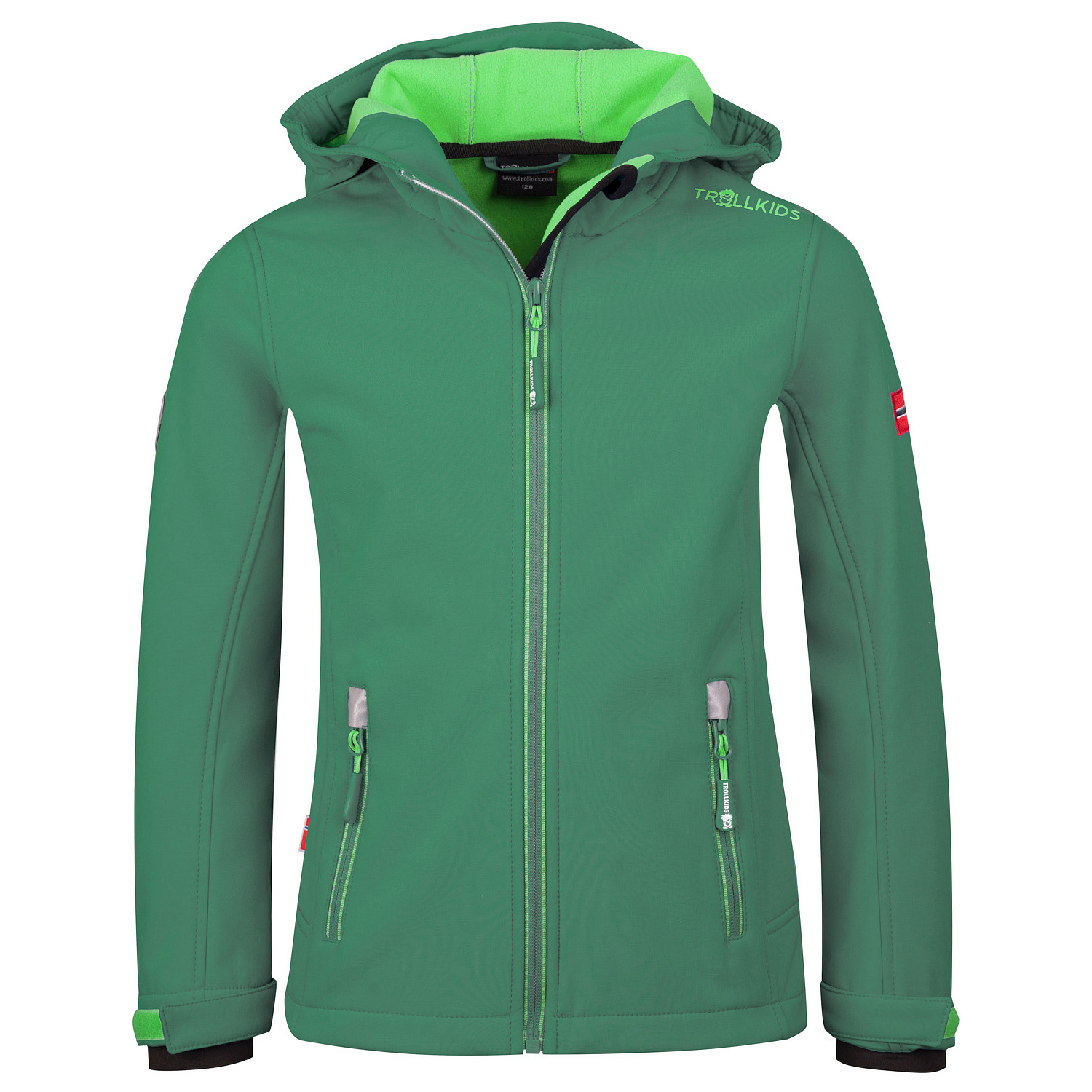herren sehr bekannt billig werden Trollkids - Kid's Trollfjord Jacket - Softshelljacke - Dark Green / Light  Green | 98 (EU)