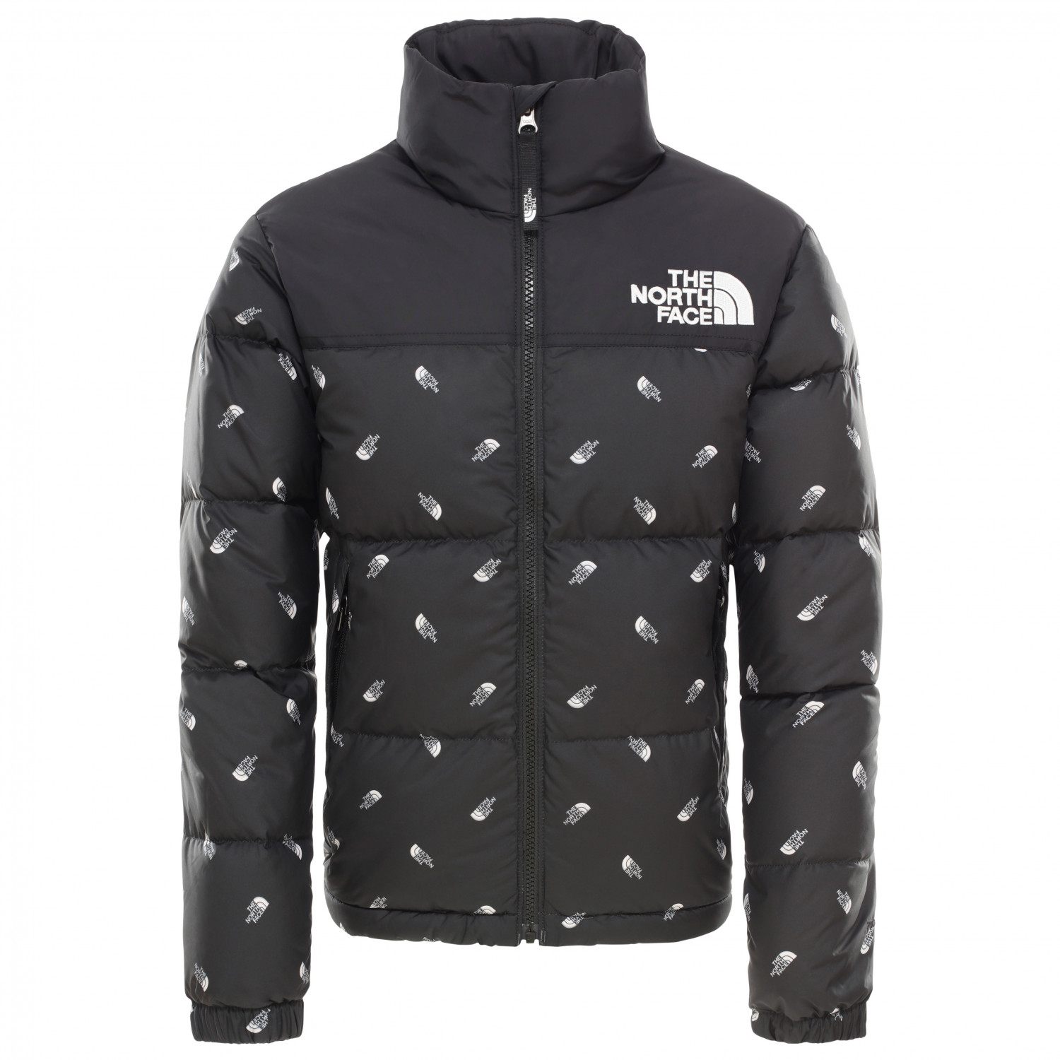 d845e89f3 The North Face - Youth Retro Nuptse Jacket - Down jacket - TNF Black Tossed  Logo Print | L