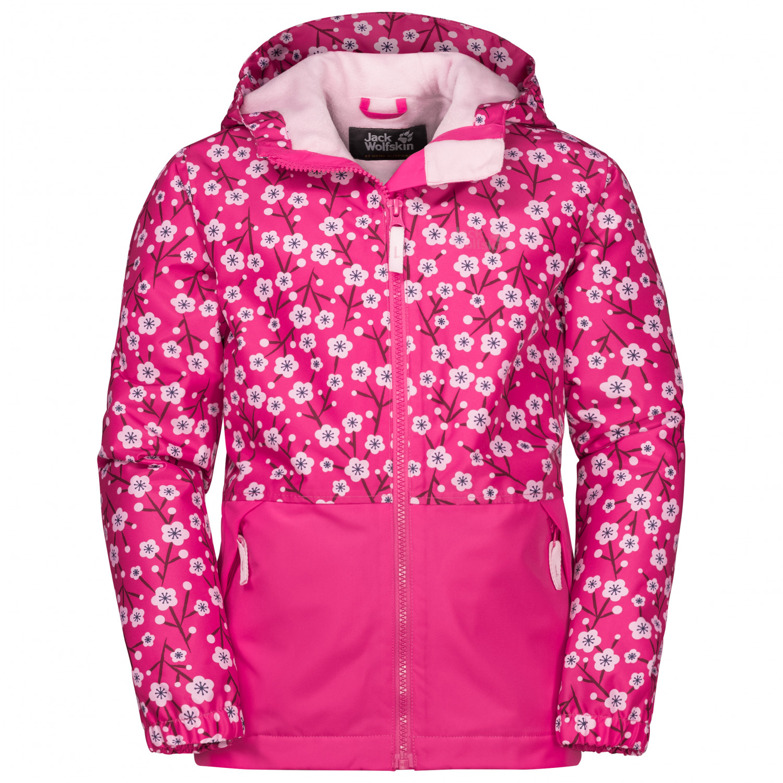 Jack Wolfskin Kid's Snowy Days Print Jacket Winter jacket Pink Fuchsia Allover | 92 (EU)