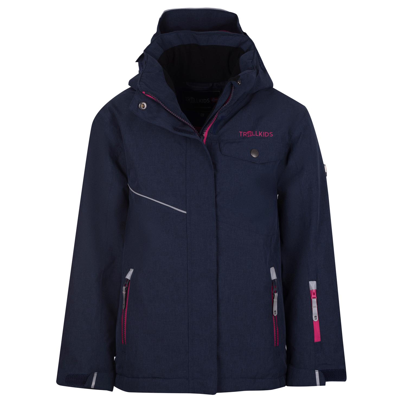 Einkaufen tolle sorten sehr günstig Trollkids - Girl's Hovden Jacket - Skijacke - Navy / Magenta | 104 (EU)