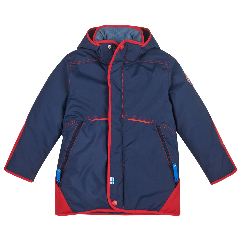 Wählen Sie für neueste beste Auswahl an attraktive Mode Finkid - Kid's Talvinen Husky - Skijacke - Navy / Red | 120/130 -  Rundkapuze (EU)