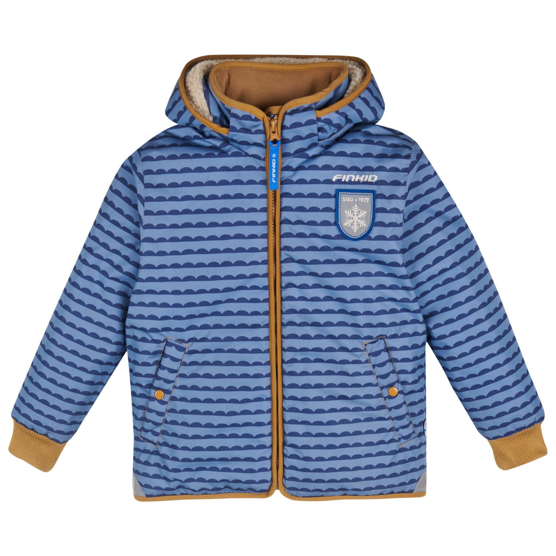 new concept ef1d0 08127 Finkid - Kid's Vanu Soft - Winterjacke - Pebbles Blue / Cinnamon   90/100 -  Zwergenkapuze (EU)
