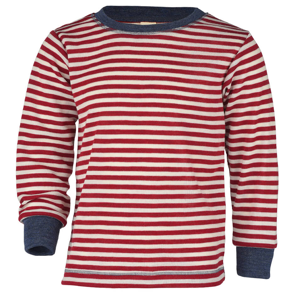 Engel - Kinder Pullover - Jerséis de lana merina - Rot Melange   Natur  ce2cf0172472