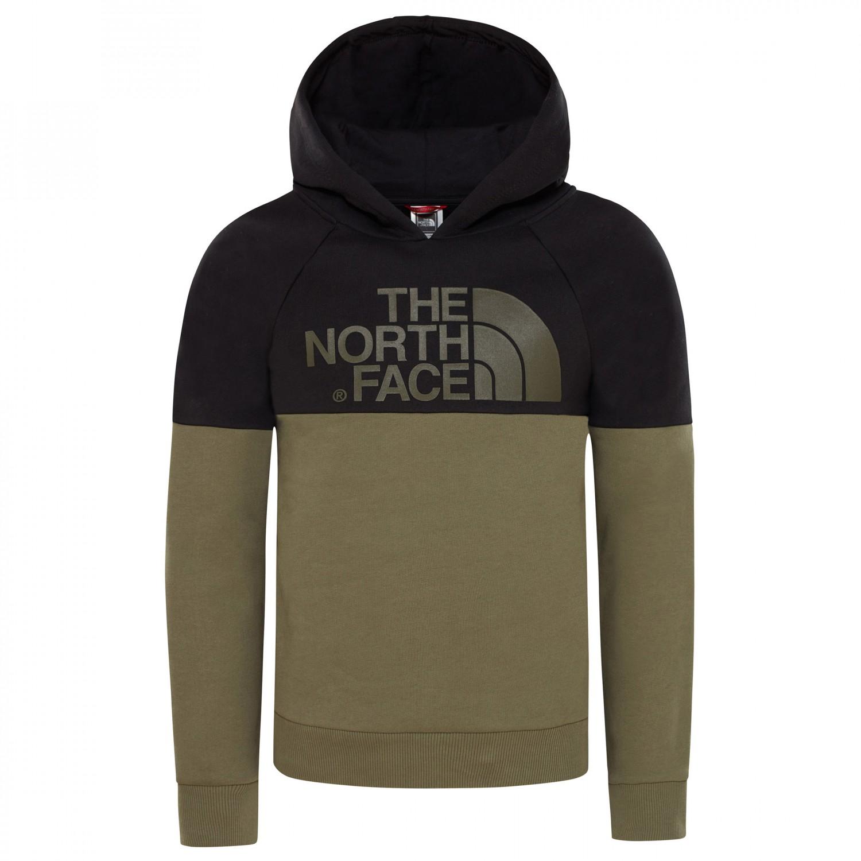 b656fff0e The North Face - Youth Drew Peak Raglan PV Hoodie - Hoodie - TNF Light Grey  Heather / TNF Black | L