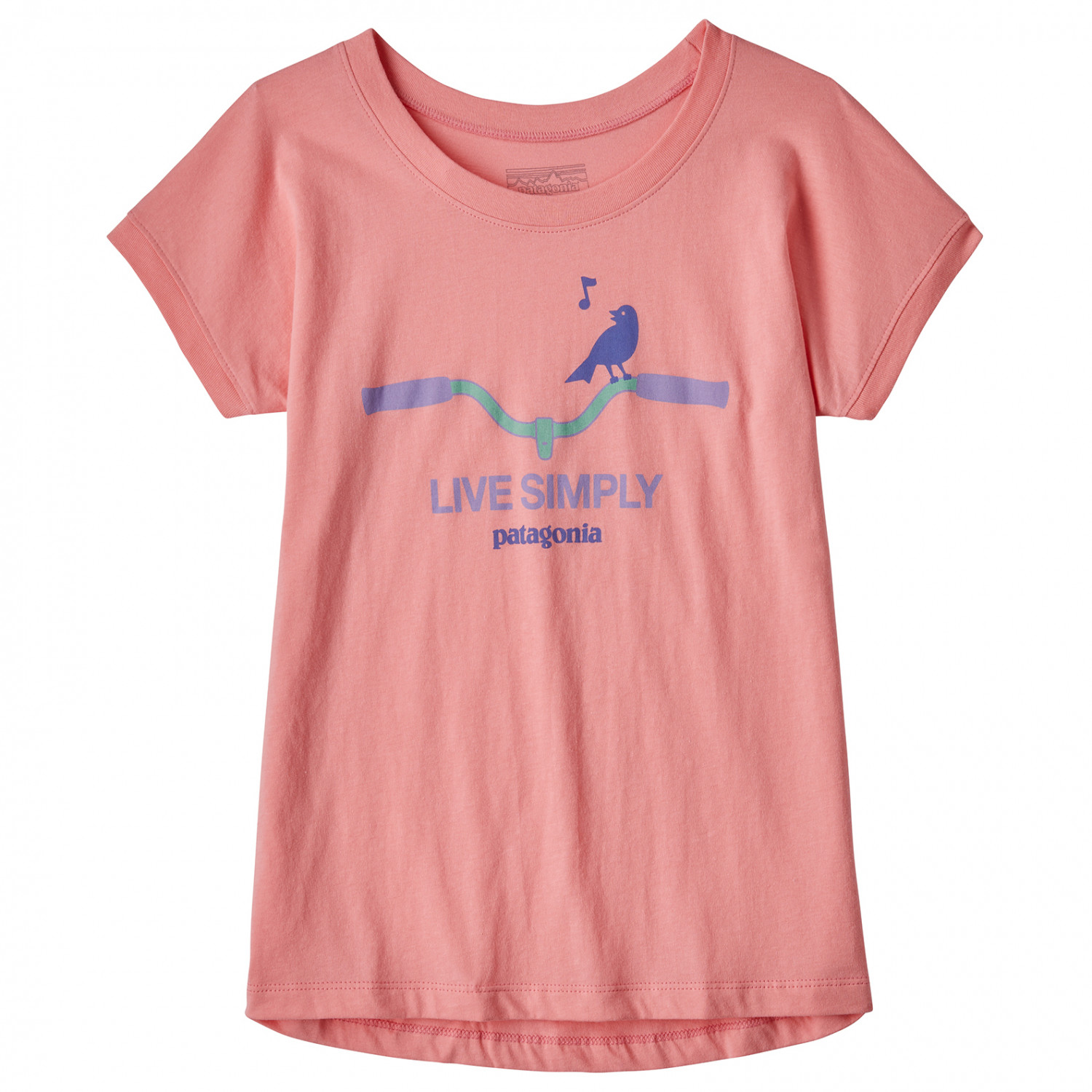 newest collection e0ccd 0afa7 Patagonia - Girls Graphic Organic T-Shirt - Fitz Roy Rainbow / Vjosa Green    M