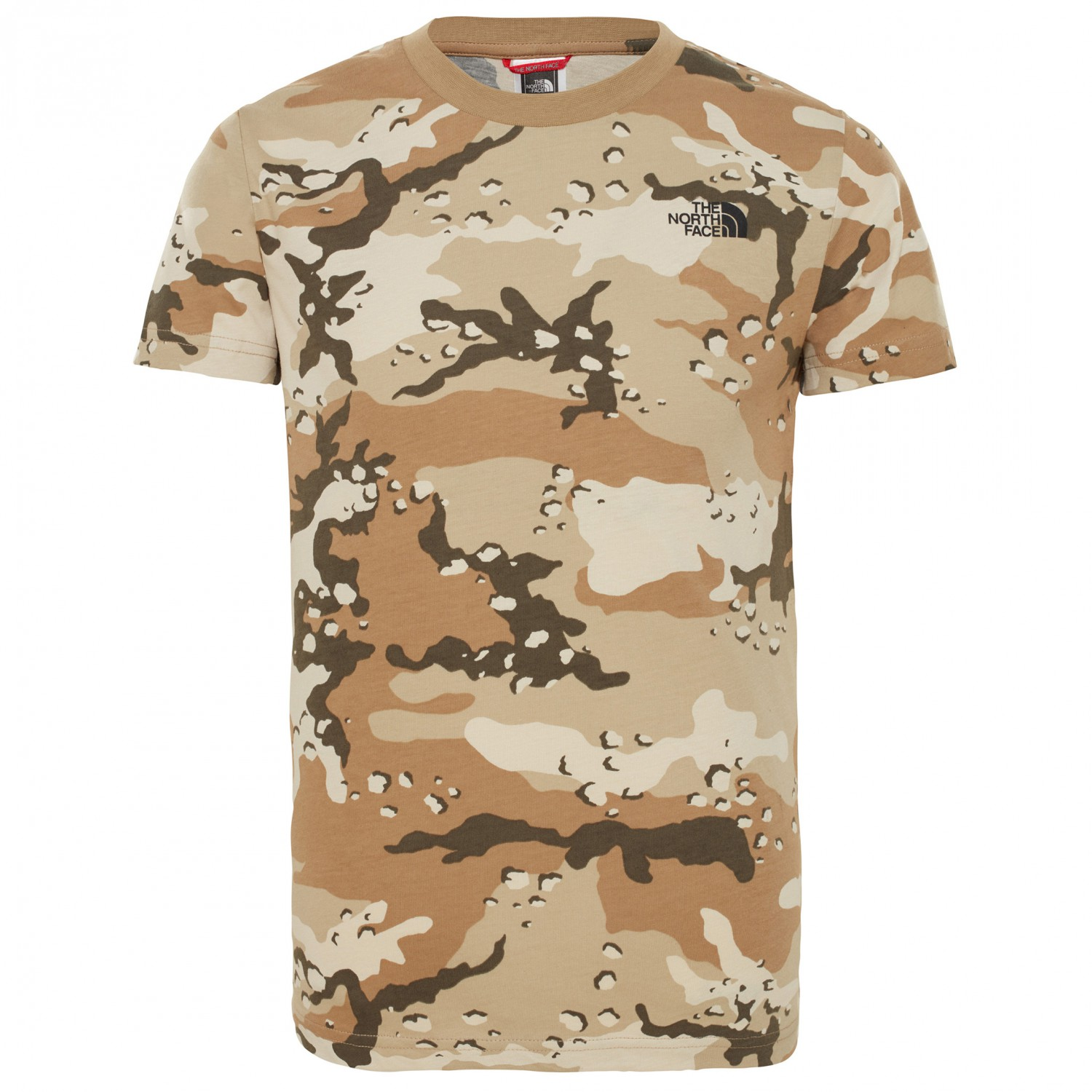 04f59fc70 The North Face - Youth S/S Simple Dome Tee - T-shirt - New Taupe Green  Desert Youth Print | XL