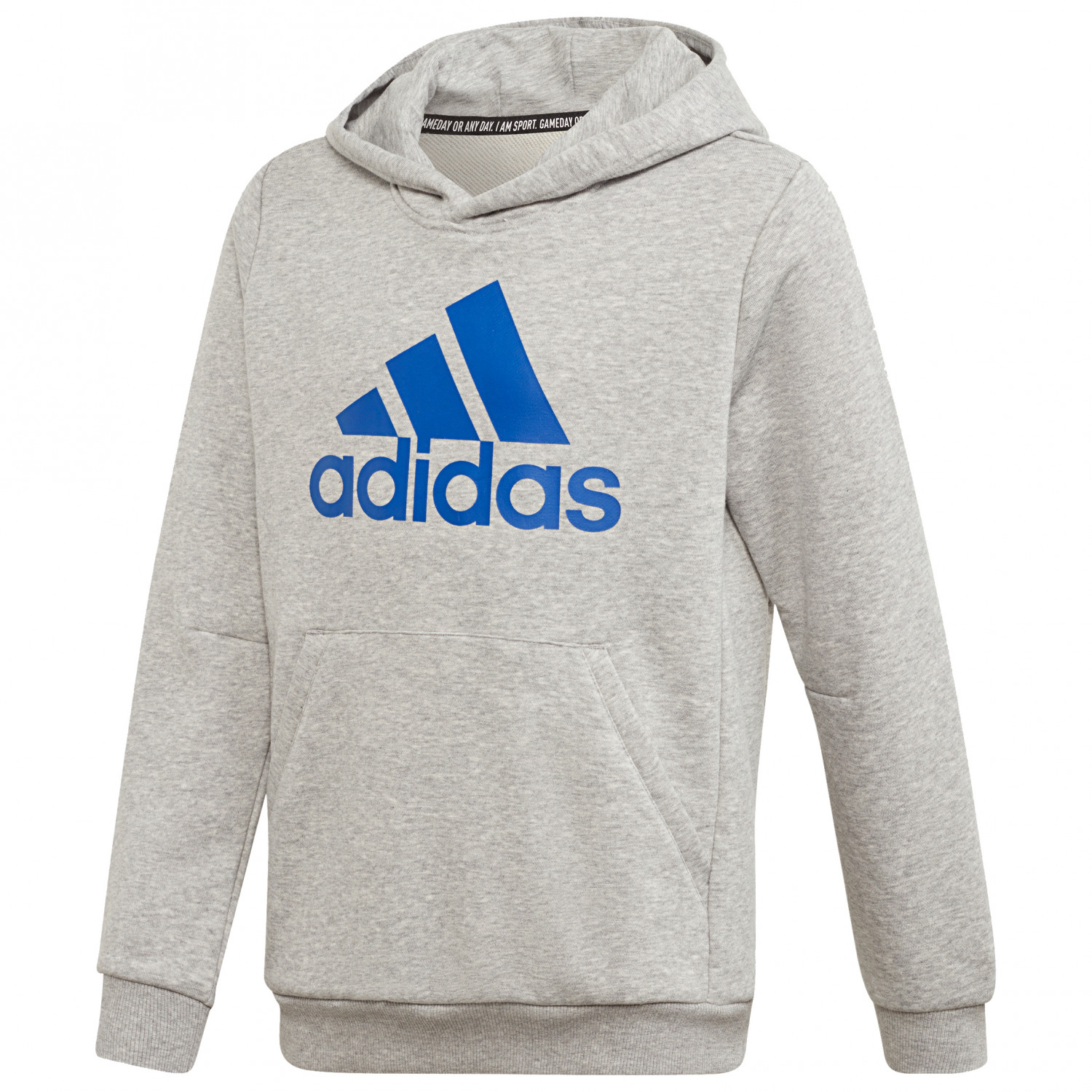 temperament shoes 2018 shoes beauty adidas - Kid's Must Have Badge Of Sport Pullover - Hoodie - Medium Grey  Heather / Croyal | 128 (EU)