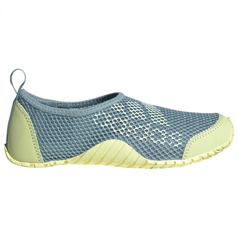 adidas - Kid's Kurobe - Water shoes - Ash Grey S18 / Dash Green / Yellow Tint | 28 (EU)