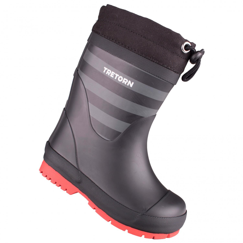 cheap for discount 73c86 e587d Tretorn - Kid's Gränna Winter - Gummistiefel - Black / Grey   23 (EU)