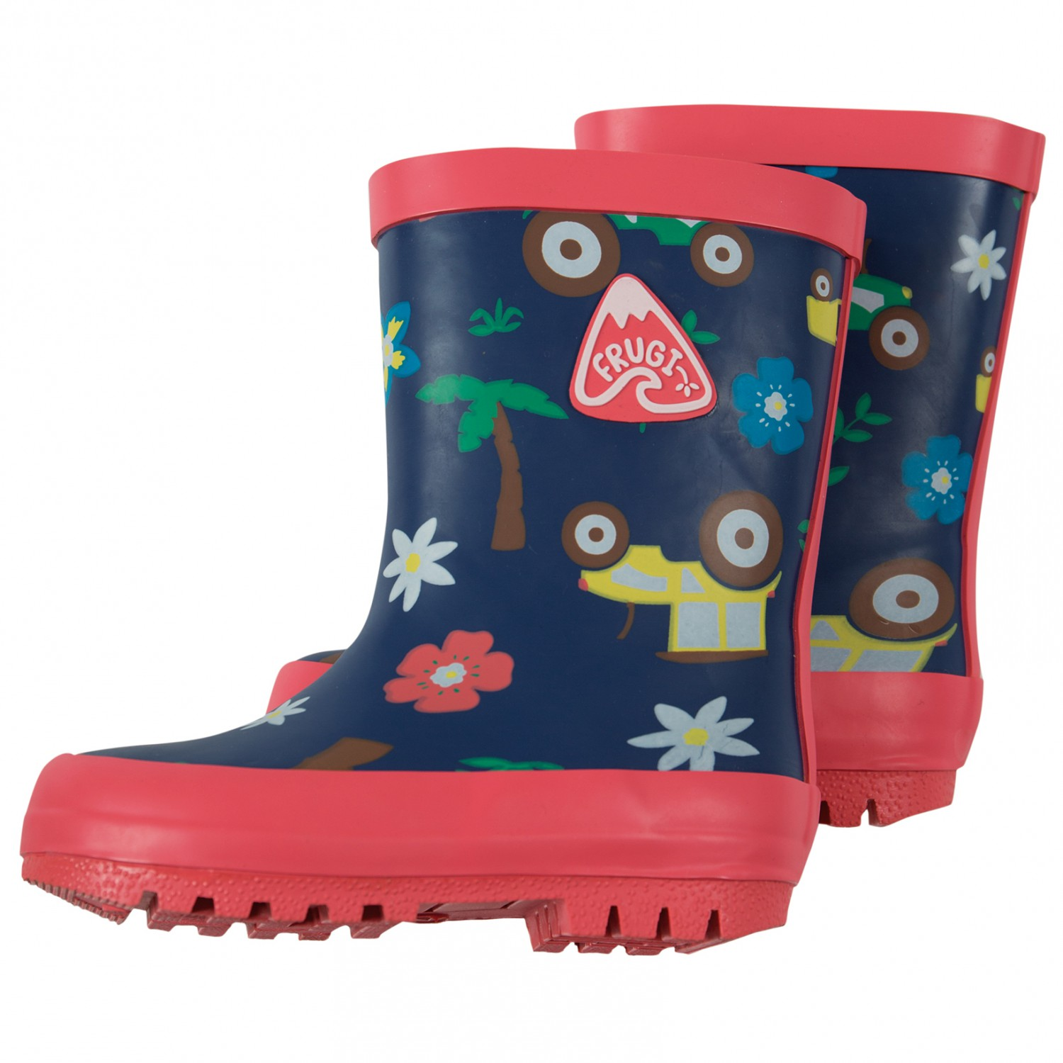 new style 9dc2d 73d6a Frugi - Kid's Puddle Buster Welly Boots - Gummistiefel - Marine Blue  Tractors | 1 (UK)