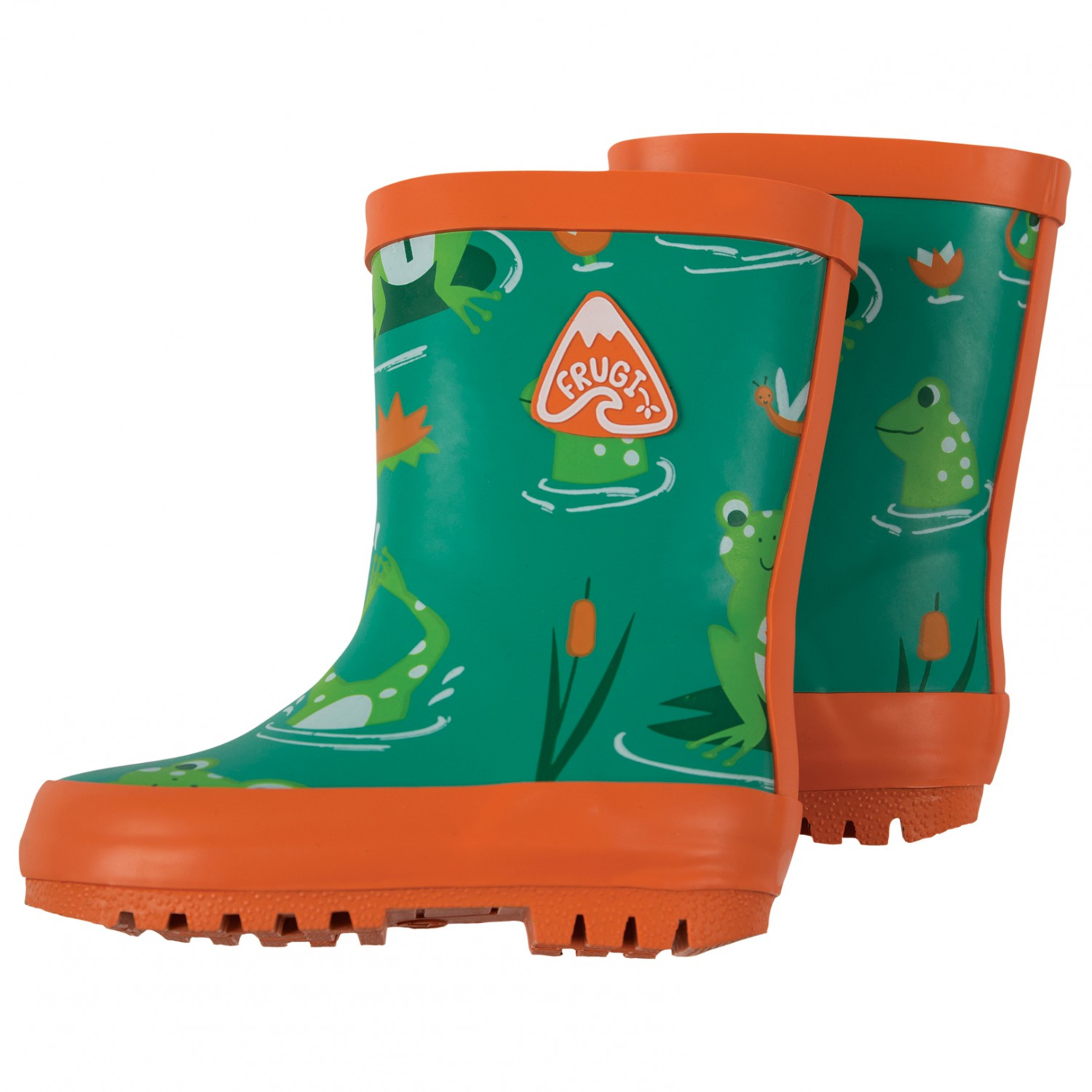 new style 8ed0b 1858c Frugi - Kid's Puddle Buster Welly Boots - Gummistiefel - Marine Blue  Tractors | 1 (UK)