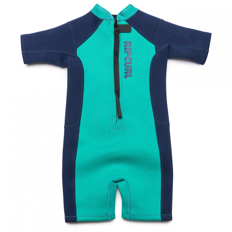 super populaire a72e7 2639f Rip Curl - Kid's Grom Dawn Patrol Back Zip Springsuit - Combinaison  néoprène - Turquoise | 2 (US)