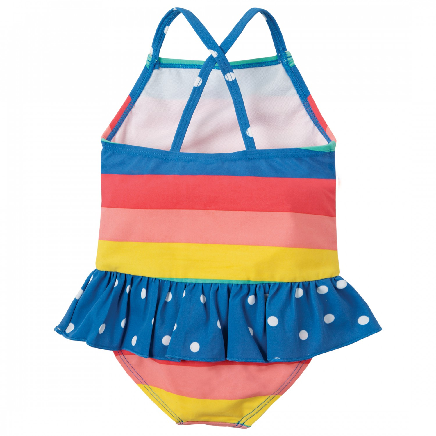 654f382f2f8 Frugi - Kid's Little Coral Swimsuit - Badpak - Bright Rainbow Stripe |  12/18 Months
