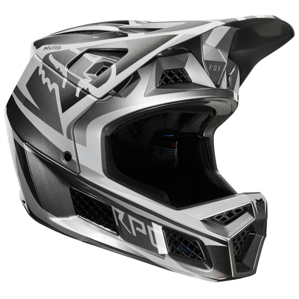 FOX Racing Rampage Pro Carbon Helmet Beast Fietshelm Metalic Silver | M