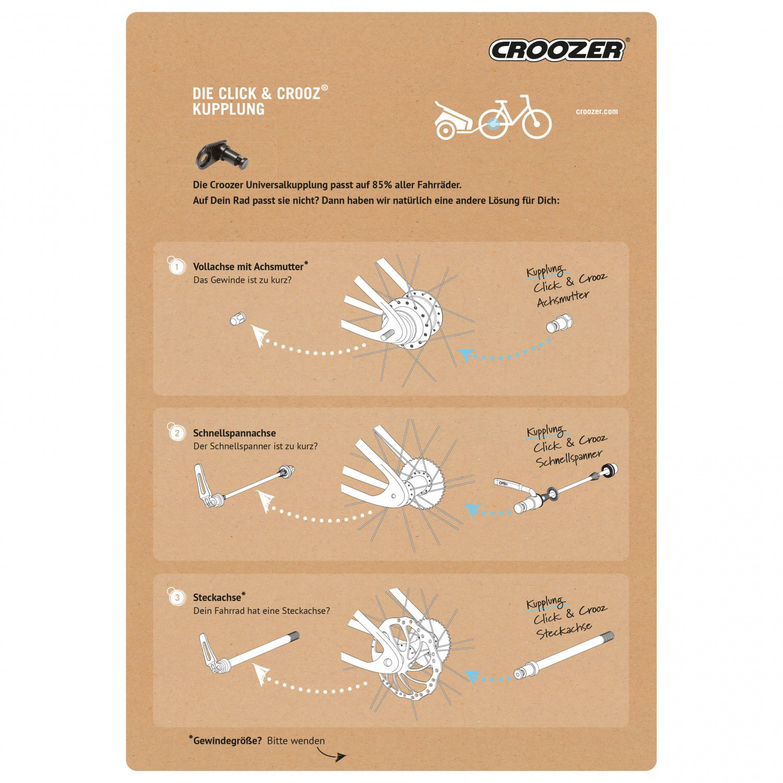 croozer kupplung click crooz steckachse. Black Bedroom Furniture Sets. Home Design Ideas
